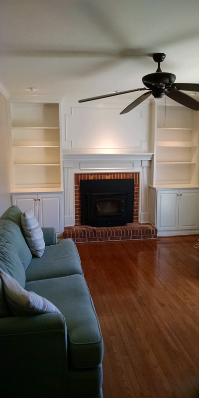 Custom Cabinets and Fire Place Moldings - Hockessin, DE